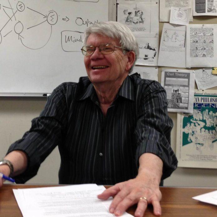 Photo of Tom Nickles in seminar room