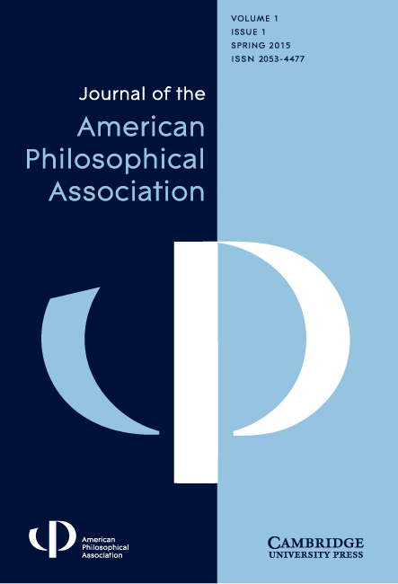 Front cover of the Journal of the APA