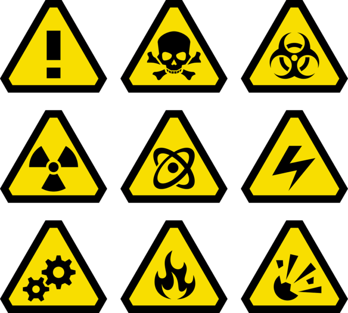 Pictures of signs of danger