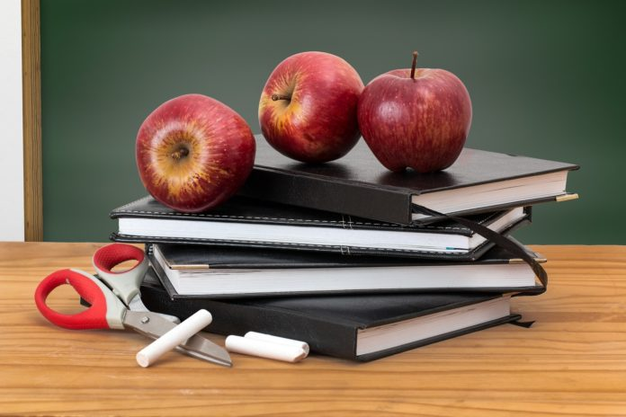 Apples, Books, Scissors, and Chalk