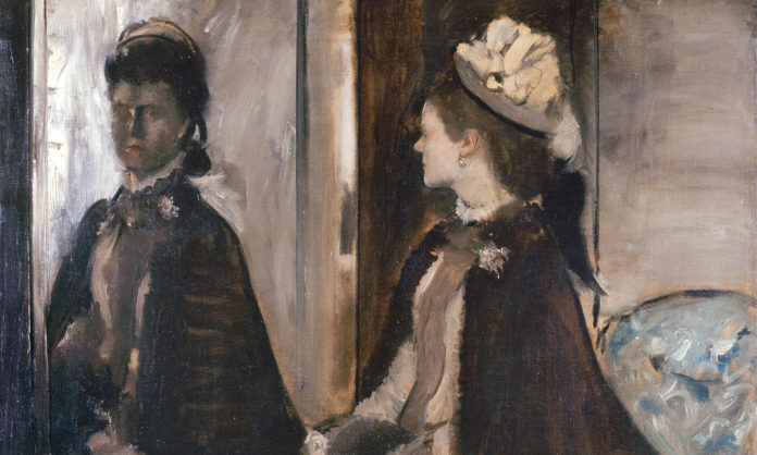 Madame Jeantaud au miroir by Edgar Degas